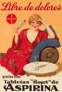 cartel antiguo aspirina
